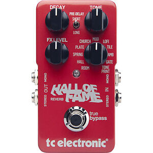 TC-Electronic-Hall-of-Fame-Reverb-TonePrint-Electronics-Effects-Pedal-FREE-Cable