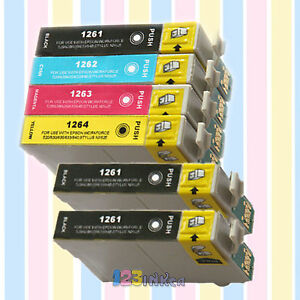 6-PACK-126-ink-for-Epson-WorkForce-435-520-630-633-635-High-Yield