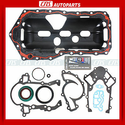 95-03 Gm 3.8l Engine Conversion Lower Gasket Set W/ Oil Pan Gasket+silicone on sale
