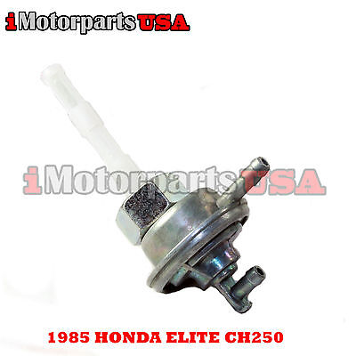 1985 Honda Elite Ch250 Ch 250 Scooter Moped Petcock Assembly Auto Fuel Pump