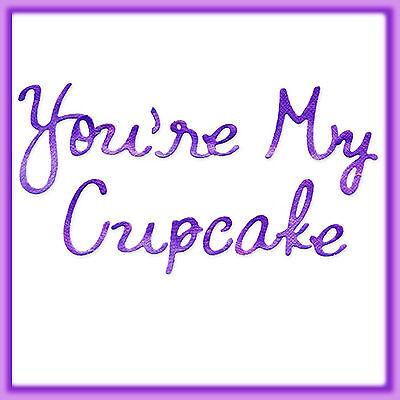 Sizzlits You're My Cupcake Alphabet 9 Die Set 655200 Retail $44.99 Retired