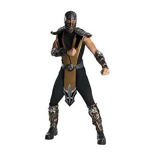 Adult Video Game Mortal Kombat Scorpion or Sub-Zero Combat Ninja Fighter Costume