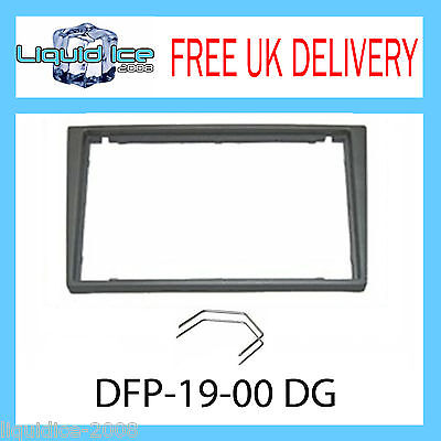 VAUXHALL VECTRE 2002 ONWARDS DOUBLE DIN DARK GREY FASCIA FACIA ADAPTOR PANEL
