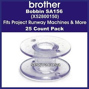 Brother sa156 bobbins 25 x52800150 fits project runway machines more