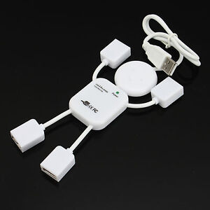 Robot Shape 4 PORT HIGH SPEED USB 2.0 MULTI HUB EXPANSION SPLITTER