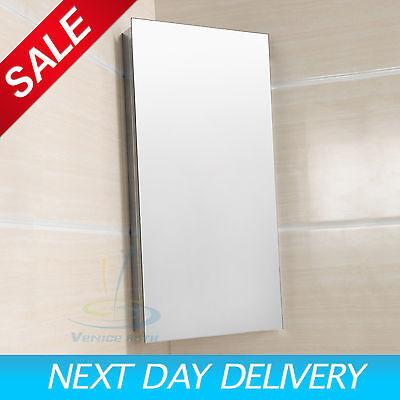 Luxury Stainless Steel Wall Corner Mirror Storage Cupboard Bathroom Cabinet 0755