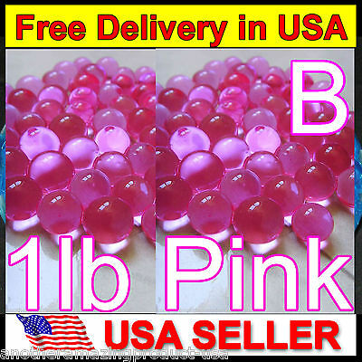 Water Marbles Pink Crystal Soil Gel Balls Plants Decoration Wedding Centerpieces