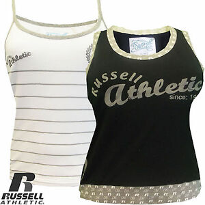 Ladies-Vest-Russell-Athletic-Sleeveless-Tee-Singlet-Cami-New-Sizes-XS-S-M-L-XL