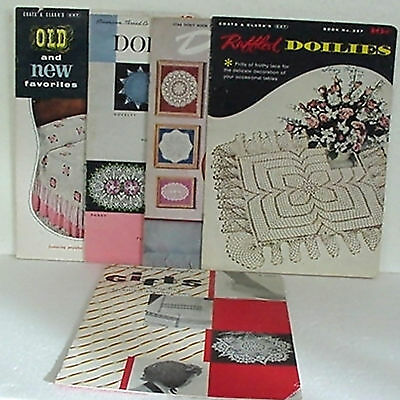 Doilies, 5 Booklets, American Thread Co., Coats & Clark's, Instructions, Photos