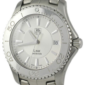 TAG Heuer Link WJ1111-0 Stainless Steel Silver Swiss Quartz Men's Watch