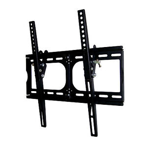 NEW LCD LED PLASMA FLAT TILT TV WALL MOUNT 20 22 26 30 32 37 42 46 50 52 BLACK