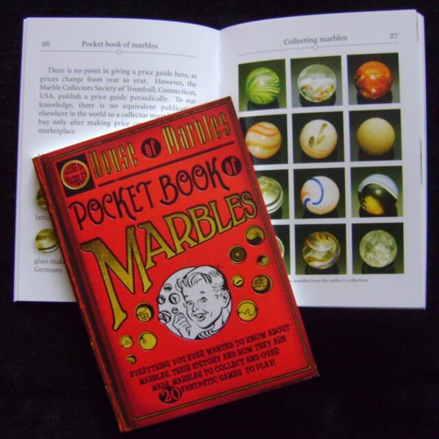 NEW 'HOUSE OF MARBLES' POCKET GUIDE BOOK OF MARBLES. GAMES, PHOTOS, HISTORY++