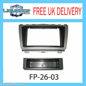 FP-26-03 MAZDA 6 SINGLE OR DOUBLE DIN BLACK FASCIA FACIA ADAPTOR PANEL SURROUND