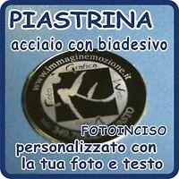 Piastrina Acciaio Cromato Rotonda 3 Cm Diam. Personalizzato Con Fotoincisione -  - ebay.it