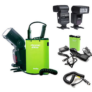 TT520 Flash Speedlite+Flash Power Battery+Cable for Canon 580EX II 540EZ 550EX