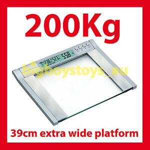 ★DIGITAL BATHROOM SCALES ELECTRONIC 200KG 39CM WIDE★ IDEAL FOR WEIGHT WATCHERS