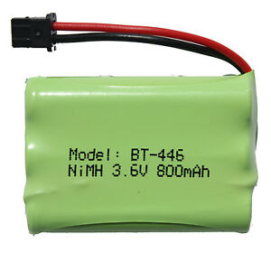 Cordless Phone Battery for Uniden BT-446, BT-909, BT909, BT-750 NiMH 3.6V 800mAh