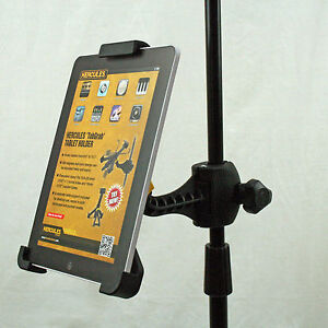 Hercules microphone stand stage holder clamp for ipad samsung android tablet pc ebay - Hercules tablet stand ...