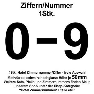 Autocollant numero de chambre dhopital hotel nombre for Numero de chambre