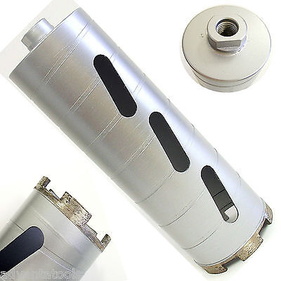 "3-1/2"" Dry Diamond Core Drill Bit for Concrete Masonry 5/8""-11 Threads"
