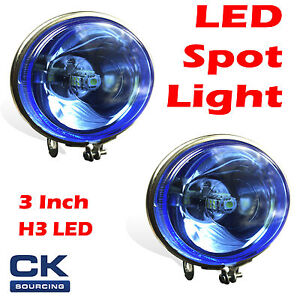 4X4 4WD 3 INCH TRUCK BOAT DRIVING LED LIGHTS 12V CAR SPOT LIGHT WATERPROOF