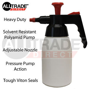 1L HEAVY DUTY PUMP UP ACTION SOLVENT SPRAYER BRAKE CLEANER PRESSURE ADJUSTABLE