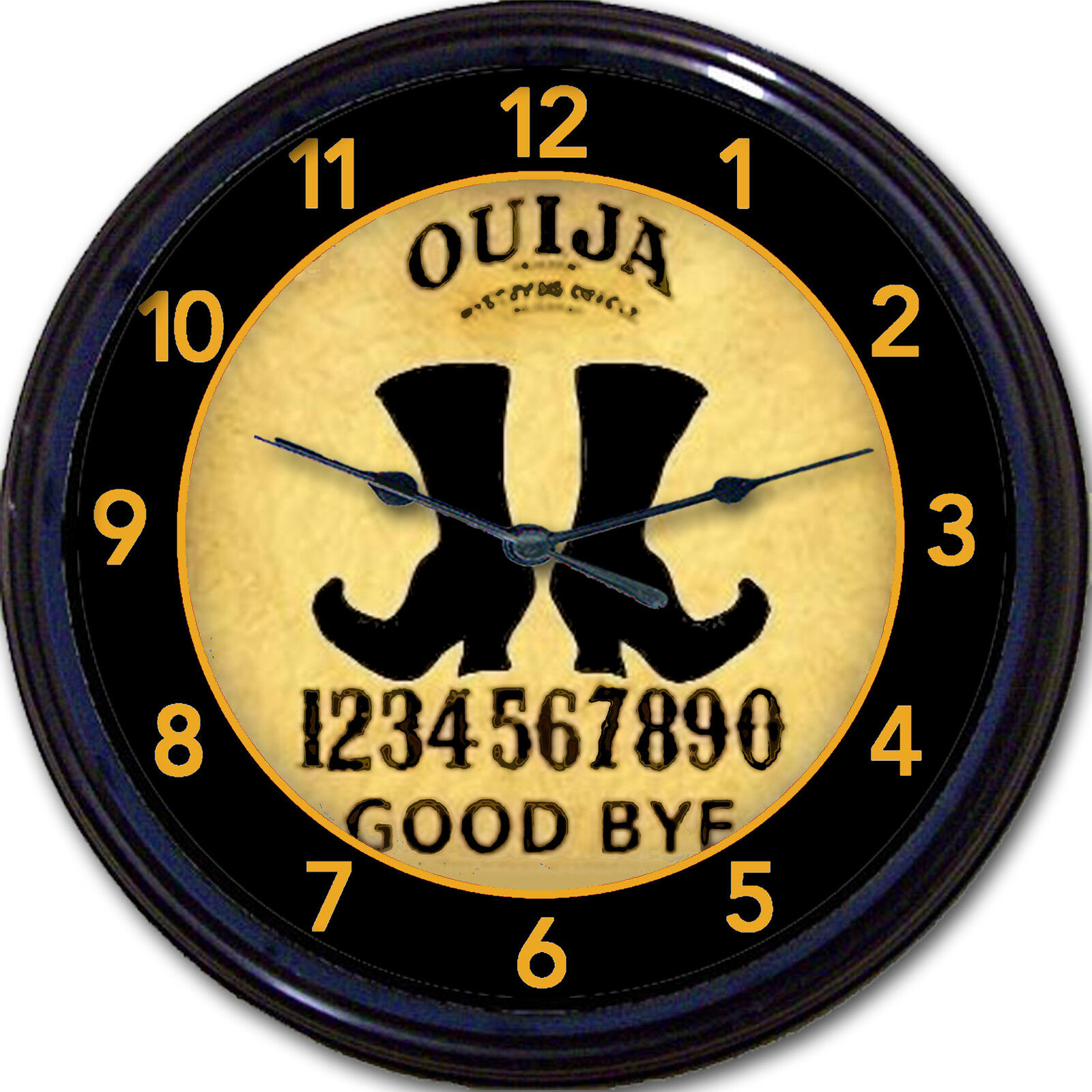Ouija Board Witch Wall Clock Paranormal Oracle Halloween Wicca Sorceress 10