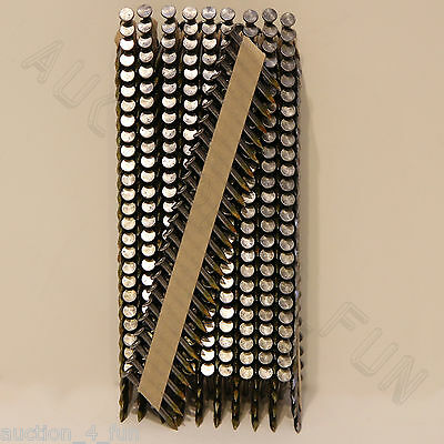 500 Ct 1-1/2x.148 Bright Joist Hanger Nails For Bostitch Paslode Gun Paper Tape
