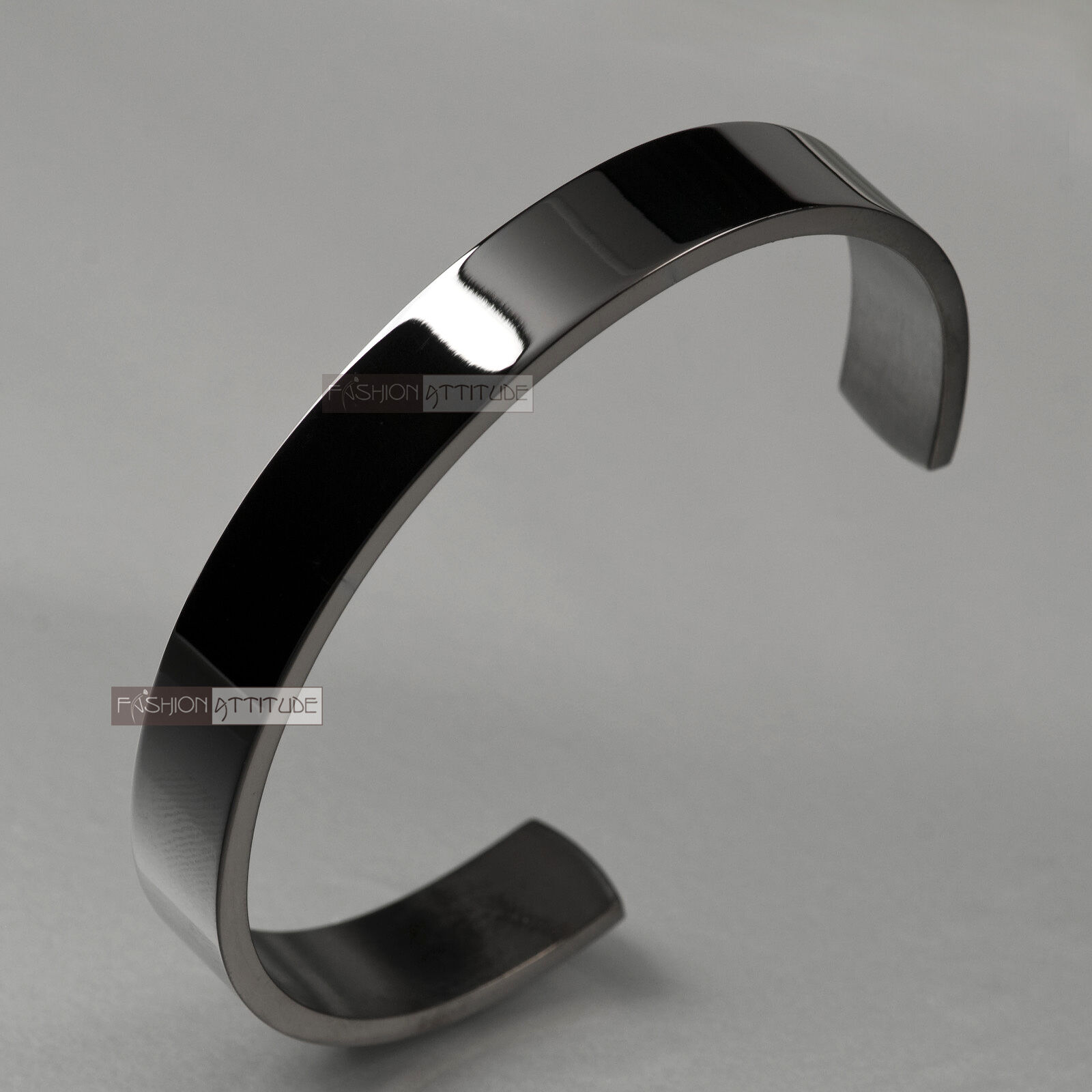 silver bracelet solid stainless steel plain polished. Black Bedroom Furniture Sets. Home Design Ideas