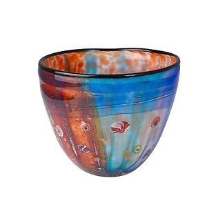 Art Glass & Coloured Glass Multi coloured bowl, bolsen, Brand New, zibo