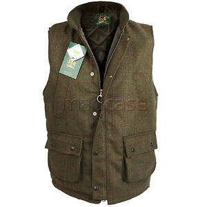 MEN'S DERBY TWEED WAISTCOAT / BODYWARMER JACKET  XS - XXXL - UK STOCK