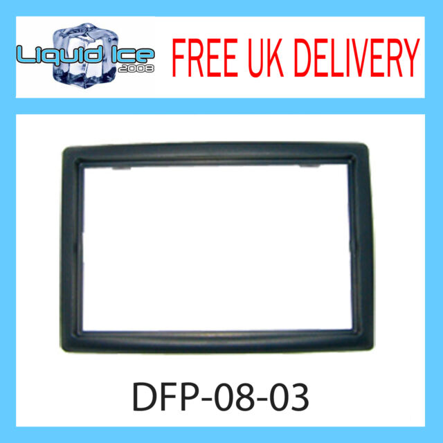 DFP-08-03 Renault Megane Black Double DIN Fascia Facia Adaptor Panel Surround CD