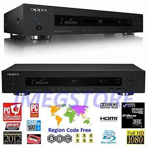 Oppo BDP-103 World Wide All Region Code Free Blu-Ray & DVD Player