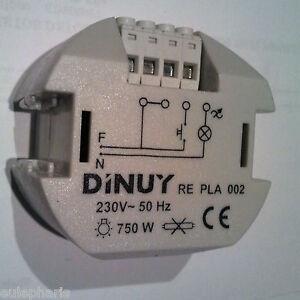 Regulador de intensidad potencia luz 750w dimmer marca for Interruptor regulador de luz