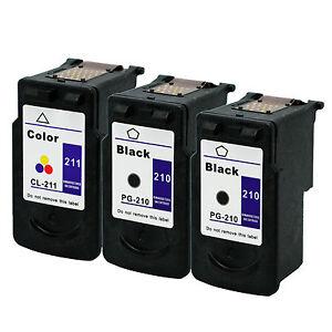 3-Pk-Canon-PG-210-CL-211-Ink-Cartridge-For-PIXMA-MP495-MX320-MX340-Printer