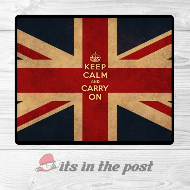 KEEP CALM AND CARRY ON - UNION JACK - MOUSE MAT - MATS mousepad GREAT GIFT!!