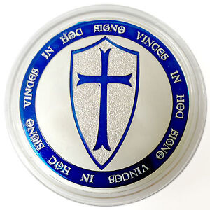 LOT-10-Knights-Templar-Coin-Pure-Silver-Plated-Art-Coin-Limited-Ed-Special-Coin