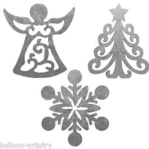 3-Silver-Festive-30cm-Glitter-Christmas-Tree-Snowflake-Angel-Hanging-Decorations