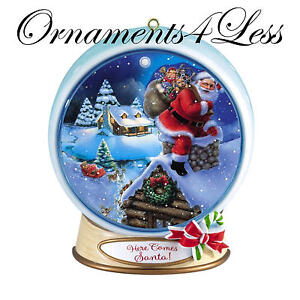 Carlton Heirloom Magic Ornament 2012 Merry Christmas - Lenticular Santa Globe