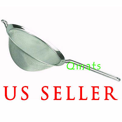 1 PC 4.6 Stainless Steel Mesh Strainer Fine Mesh W/Handle Sieve WHOLESALE PRICE