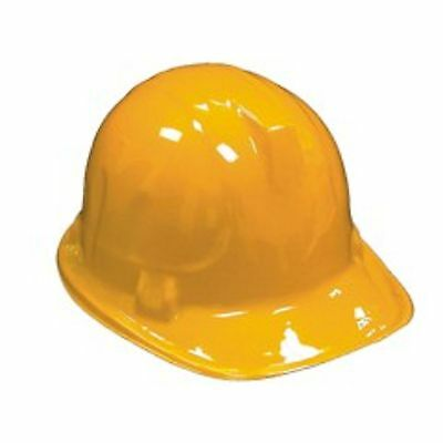 12  YELLOW Plastic Construction Worker Hard Hat Party Favors Costume Accessory