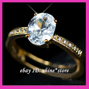 GENUINE REAL 9CT SOLID YELLOW GOLD ENGAGEMENT WEDDING LADY CREATED DIAMOND RINGS