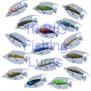 Lot of 16 fishing lures bass walleye steelhead trout for Steelhead fishing lures