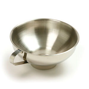 Norpro-Stainless-Steel-Wide-Mouth-Canning-Preserving-Funnel-New