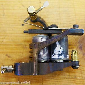 OLD-SKOOL-custom-Steel-10-wrap-coil-Left-TATTOO-gun-MACHINE-supply-SHADER-liner