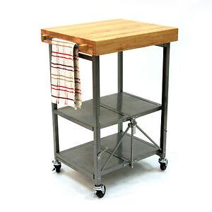 Kitchen Butcher Block Stands : Butcher Block Cart eBay