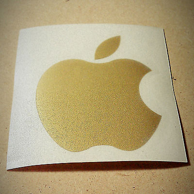 Apple computers logo GOLD metallic sticker – decal for ipad iMac iphone