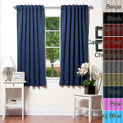 Best home fashion 72 inch insulated thermal blackout for Block out noise windows