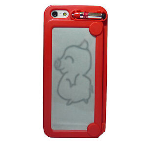 Magic-Magnetic-Drawing-Message-Board-Apple-iPhone-5-Case-Cover-Free-Protector