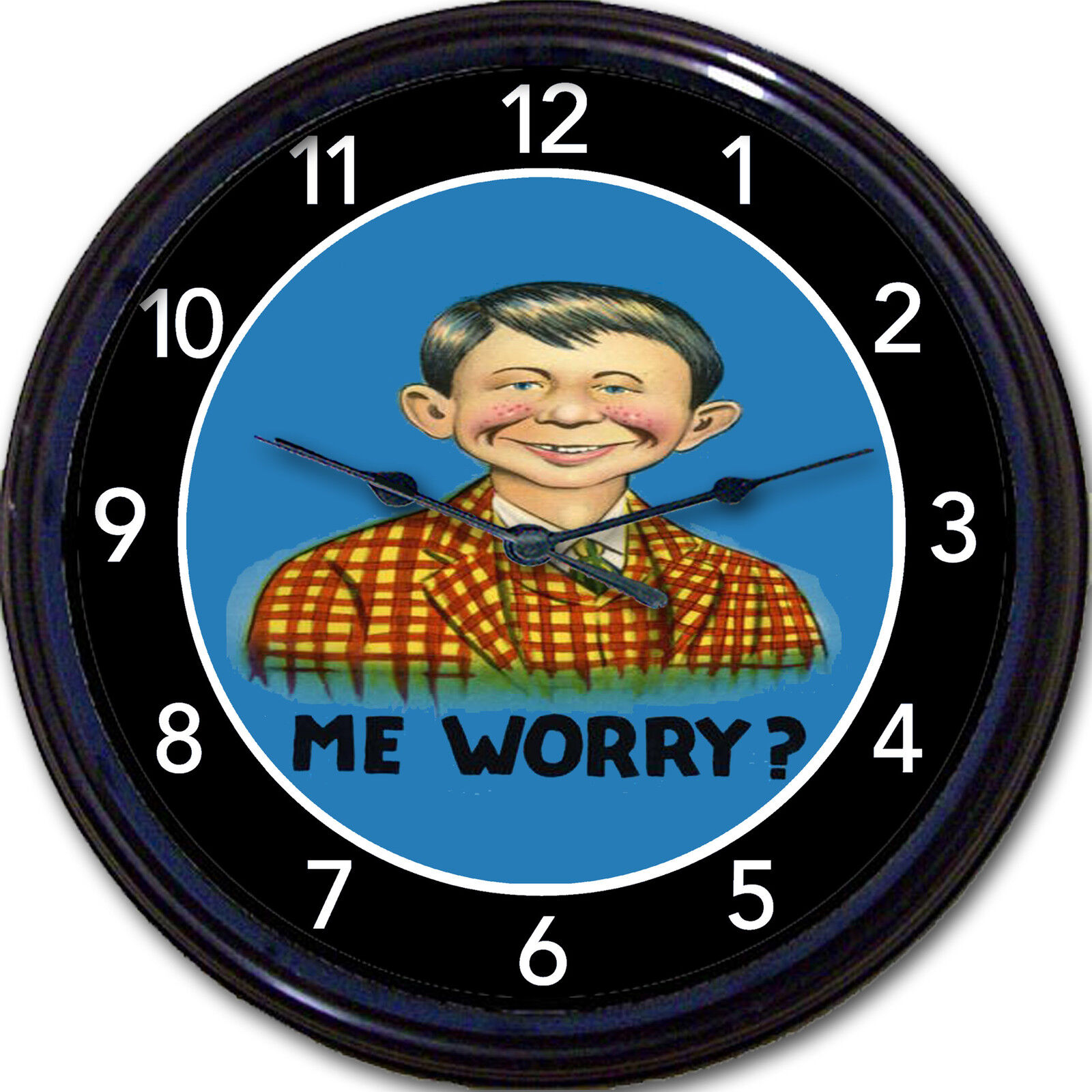 Alfred E Neuman Mad Magazine What Me Worry? Mascot Wall Clock 10